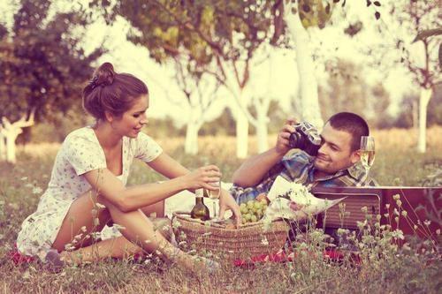 romantische picknick